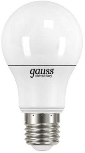 Фото - Лампа светодиодная Gauss 23227A LED Elementary A60 7W E27 540lm 4100K лампочка gauss e27 шар dim 7w 590lm 4100k 105102207 d