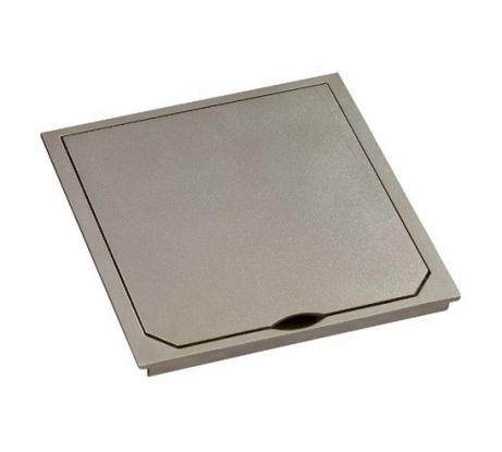 Крышка ABL 1632PLM металлическая, платина, матовая, IP41