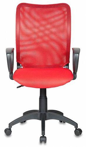 Кресло Бюрократ CH-599AXSN CH-599/R/TW-97N красное/красное, спинка сетка