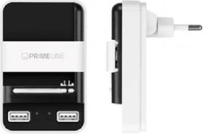 Фото - Зарядное устройство сетевое Deppa 2313 для АКБ, 1A, 2 USB, белый/черный, Prime Line сетевое зарядное устройство deppa 2xusb 3 4a черный 11385