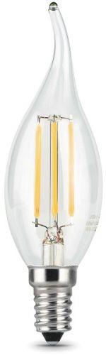Фото - Лампа светодиодная Gauss 104801105 LED Filament Свеча на ветру E14 5W 420lm 2700K лампа светодиодная 7вт 230в e14 filament теплый свеча gauss