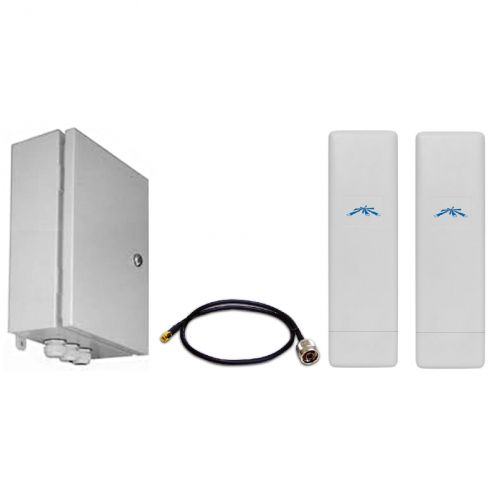Комплект Beward BR-025-8 передачи видео с подключением до 7 IP-камер или видеосерверов, до 4 км