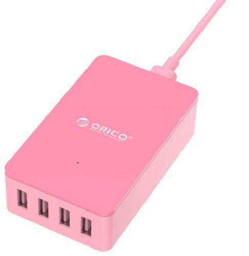 Фото - Зарядное устройство сетевое Orico CSE-4U розовый сетевое зарядное устройство orico qsl 5u bk 2 4а черный