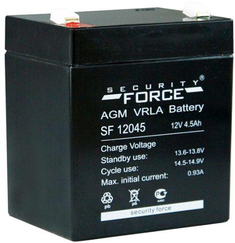 Аккумулятор Security Force 12 В, 4.5 Ач SF 12045 герметичный свинцово-кислотный