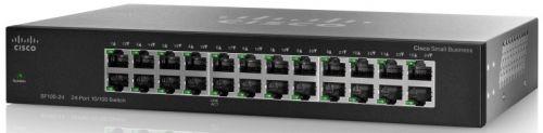 Коммутатор неуправляемый Cisco SB SF110-24-EU SF110-24 24x10/100, 19