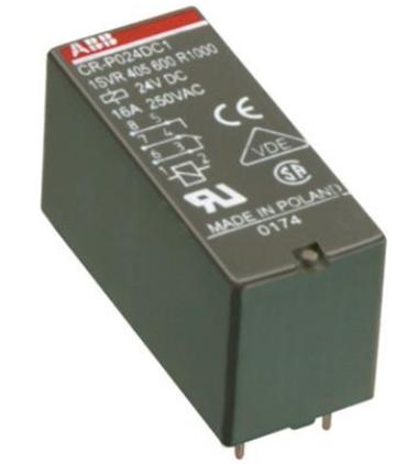 Реле ABB 1SVR405601R3000 промежуточное CR-P230AC2 8А 230В 2ПК CR-P без индикации без розетки