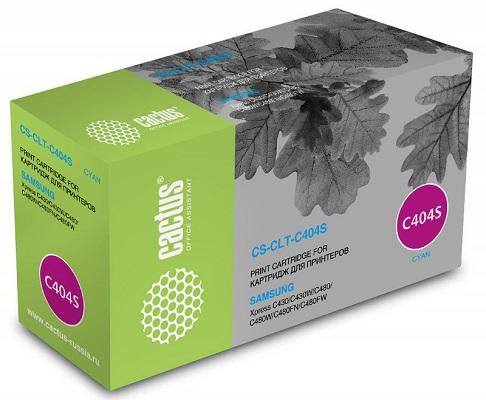 Картридж Cactus CS-CLT-C404S для Samsung SL-C430/C430W/C480/C480W/C480FW (1000стр.), голубой