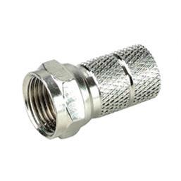Штекер LAZSO APFT11-RG59 F-штекер навинчивающийся на кабель RG59, 1 шт. Диапазон частот 0-1 ГГц. Материал корпуса -латунь. Покрытие - никель.