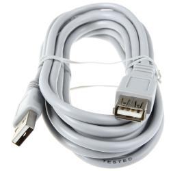 Фото - Кабель интерфейсный USB 2.0 удлинитель HAMA AM/AF 00045040 3.0 м, серый экранированный H-45040 кабель соединительный usb 3 0 am am 1 8м hama h 39676 позолоченные контакты экранированный синий