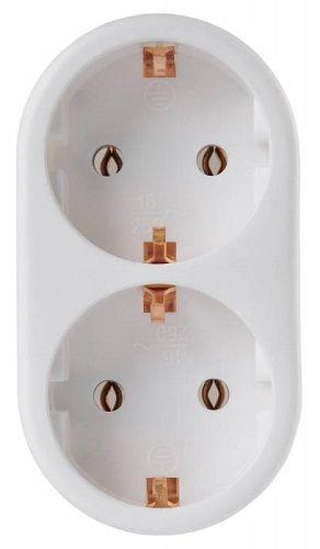 Разветвитель Buro BU-PS2G-W 2 розетки, белый (пакет ПЭ)