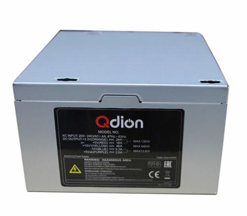 Блок питания ATX Qdion QD-650PNR 650W, active PFC, вентилятор 120mm, 80Plus power supply fsp qdion atx 350w 120mm 3xsata nonpfc
