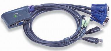 Переключатель KVM Aten CS62U-A7 KVM+Audio, 1 user USB+VGA => 2 cpu USB+VGA, со встр.шнурами USB 2x1.2м., 2048x1536, настол., исп.стандарт.шнуры, без O переключатель kvm aten usb vga 2 cpu usb vga 2048x1536 настол исп стандарт шнуры без osd cs22u a7