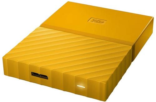 Western Digital Внешний жесткий диск 2.5'' Western Digital WDBLHR0020BYL-EEUE 2TB My Passport Slim жёлтый, USB 3.0