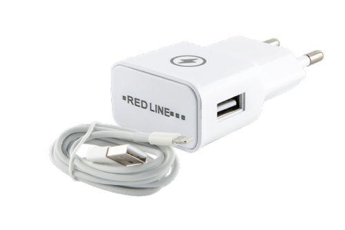 Фото - Зарядное устройство сетевое Red Line NT-1A УТ000013626 1 USB, 1A, + кабель Lightning для Apple, белый автомобильное зарядное устройство qumo 3 0a 2xusb 1a 2a кабель apple lightning в комплекте черный 20737