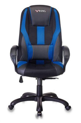 Кресло Бюрократ VIKING-9 черное/синее, искусст.кожа/ткань кресло liyasi руби синее 76x76x78 см