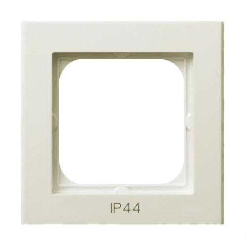 Рамка Ospel RH-1R/27 одинарнаядля выключателей IP-44, экрю