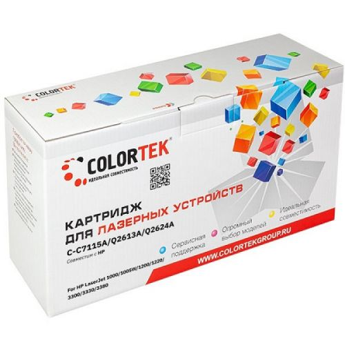 Картридж Colortek CT-C7115A/Q2613A/Q2624A для HP LaserJet 1000, HP LaserJet 1005W, HP LaserJet 1200, HP LaserJet 1220, HP LaserJet 3300, 2500 к.