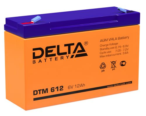 Батарея Delta DTM 612 6В, 12Ач, 151/50/100