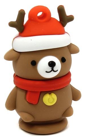 Накопитель USB 2.0 16GB SmartBuy SB16GBCaribou Caribou Bear коричневый