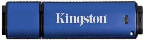 Накопитель USB 3.0 64GB Kingston DataTraveler Vault Privacy 3.0 DTVP30/64GB синий usb flash накопитель 64gb kingston datatraveler generation 4 dtig4 64gb usb 3 0 бело фиолетовый