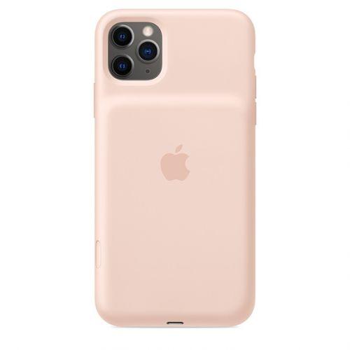 Чехол Apple Smart Battery Case MWVR2ZM/A для iPhone 11 Pro Max, pink sand чехол аккумулятор apple smart battery case для apple iphone 11 pro белый