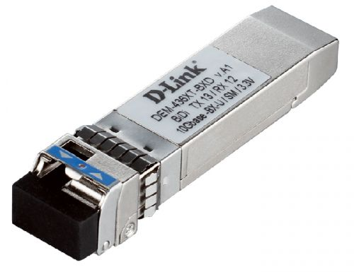 Трансивер D-link 436XT-BXD/20KM/B2A 10GBASE-LR BiDi SFP+ Transceiver (w/o DDM), 3,3V WDM, TX: 1330nm, RX: 1270nm Up single-mode 20km