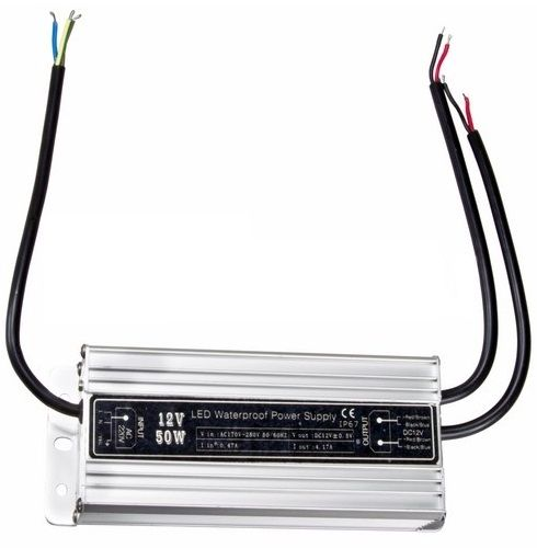 Источник питания Rexant 200-050-2 110-220V AC/12V DC, 4,5А, 50W с проводами, влагозащищенный (IP67)