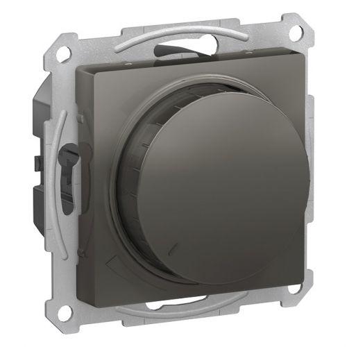 Светорегулятор Schneider Electric ATN000936 AtlasDesign, диммер, поворотно-нажимной, 630Вт, механизм, сталь