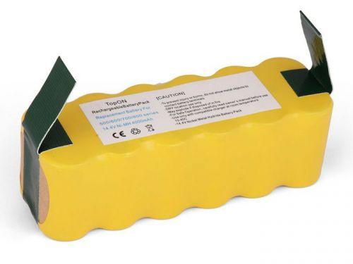 4500mah xlife extended life replacement battery for irobot roomba r3 500 600 700 800 900 series 530 531 532 Аккумулятор TopOn TOP-IRBT500-40 для робота-пылесоса iRobot Roomba 500, 600, 700, 800, 900 Series. 14.4V 4000mAh Ni-MH. PN: GD-ROOMBA-500.