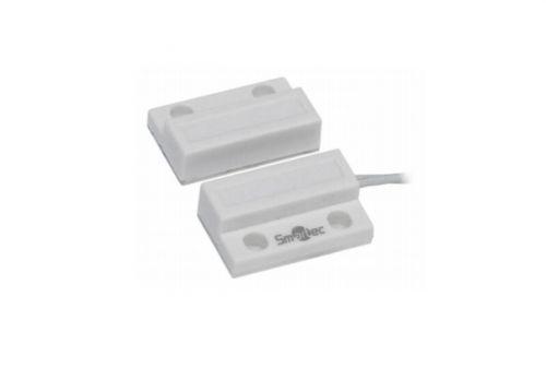 Датчик Smartec ST-DM110NC-WT магнитоконтактный, НЗ, белый, накладной для деревянных дверей, миниатюрный, зазор 20 мм