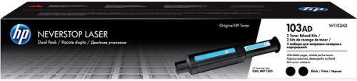 Заправочный комплект HP 103AD W1103AD черный x 2уп. (5000стр.) для HP Neverstop Laser