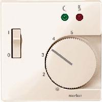 Накладка Schneider Electric MTN534944 Merten регулятора тёплого пола с выключателем, термопласт, IP20 (бежевый глянцевый)