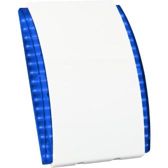 Оповещатель SATEL SPW-220 BL светозвуковой, внутренний, синий, три режима сигнализации, режим постановки на охрану