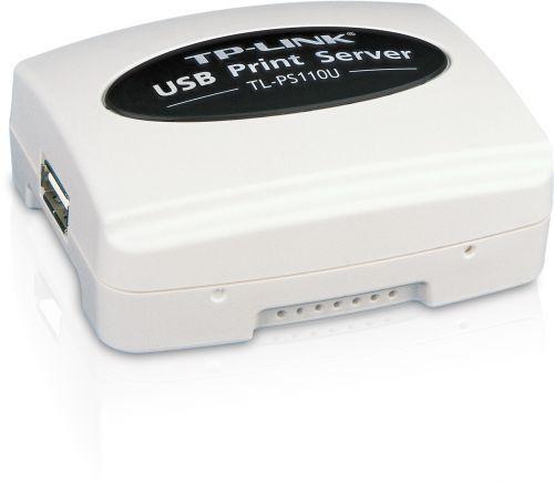 Принт-сервер TP-LINK TL-PS110U с 1 портом USB 2.0 и 1 портом Fast Ethernet
