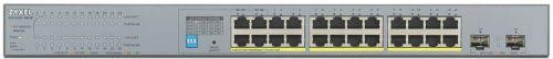 Коммутатор PoE ZYXEL GS1300-26HP для IP-видеокамер, 24xGE PoE+, 2xSFP, бюджет PoE 250 Вт, дальность передачи питания до 250 м коммутатор zyxel gs1300 26hp eu0101f