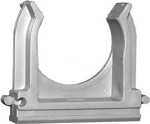 Клипса RUVinil К01163 для трубы 63мм пластмасса серый (40 шт)