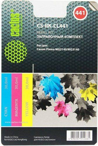 Заправочный комплект Cactus CS-RK-CL441 многоцветный 90мл для Canon MG2140, MG3140