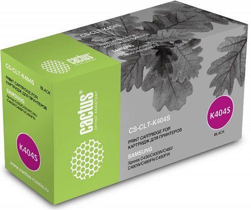 Картридж Cactus CS-CLT-K404S черный для Samsung SL-C430/C430W/C480/C480W/C480FW (1500стр.)