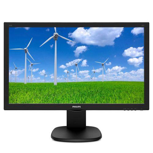 Монитор 23,6 Philips 243S5LJMB (00/01) 1920x1080, 1 мс, 250 кд/м2, 10000000:1, 170°/160°, TN, DVI-D (HDCP), HDMI 1.4, DisplayPort 1.2, VGA, USB Type монитор 28 philips 288p6ljeb 00 01 3840x2160 1 мс 300 кд м2 50000000 1 170° 160° dvi d hdmi displayport vga usb 4 mhl spk has pivot