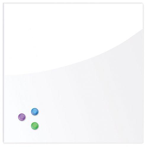 Доска BRAUBERG 236735 магнитно-маркерная стеклянная 45х45 см, 3 магнита, белая brauberg 45x45 см розовая 3 магнита 236742