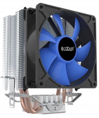Кулер PCCooler S93 V2 S775/115X/AM2/AM3/AM4/FM1/FM2 (40 шт/кор, TDP 102W, вент-р 90мм, 2 тепловые трубки 6мм, 2200RPM, 22dBa)