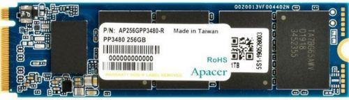 Накопитель SSD M. 2 2280 Apacer AP256GPP3480-R PP3480 256GB PCIe Gen3x4 3D TLC 2300/1200MB/s IOPS 150K/240K MTBF 2M RTL