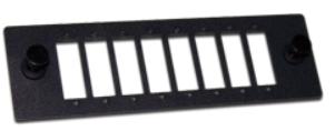 Панель Lanmaster LAN-APM-8FC Адаптерная на 8 симплексных FC адаптеров, для кроссов LAN-FOBM, черная