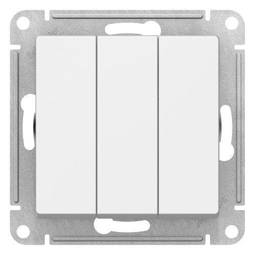 Выключатель Schneider Electric ATN000131 AtlasDesign, 3-клавишный, сх.1+1+1, 10АХ, механизм, белый