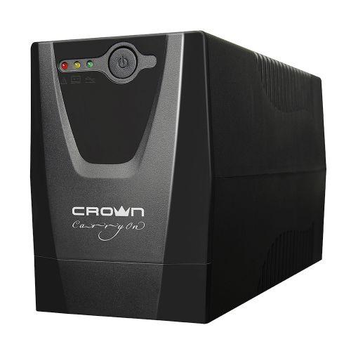 Источник бесперебойного питания Crown CMU-650X CM000001506 line-Intractive, 650VA/300W, AVR, 1*IEC+1*EURO (CMU-650X - CM000001506)