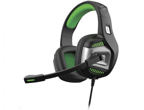 Наушники SmartBuy RUSH PUNCH'EM SBHG-9700 динамики 50мм, поворотный микрофон, LED, черн/зелен
