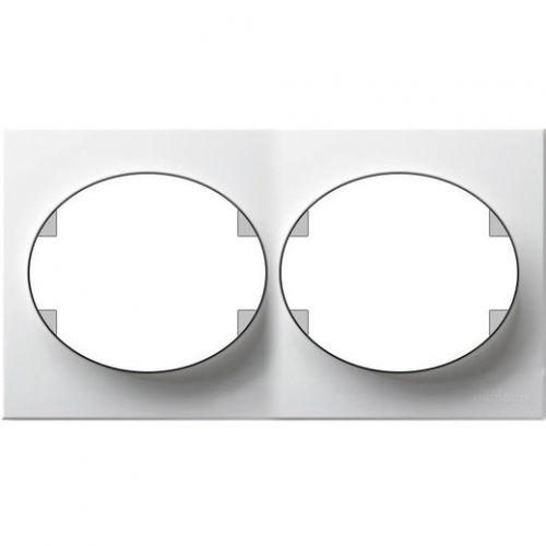 Рамка ABB 5572.1 BL 2 поста горизонтальная белая