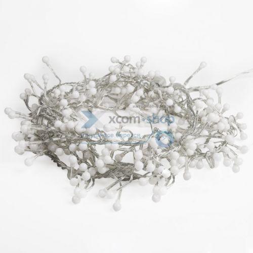 Фото - Гирлянда NEON-NIGHT 303-615 мишура LED 6м прозрачный ПВХ, 576 диодов, цвет белый комплект neon night premium для новогоднего украшения дома цвет гирлянд белый 500 085
