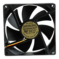 Вентилятор для корпуса Gembird FANCASE2/BALL 90x90x25mm, 2500 rpm, 26dBA, 3-pin вентилятор для корпуса gembird d50sm 12as