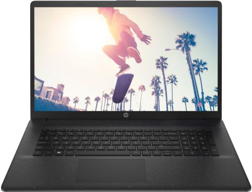 Ноутбук HP 17-cp0091ur 4D4B5EA Silver 3050U/4GB/256GB SSD/17.3 HD+/noDVD/Radeon graphics/DOS/black ноутбук hp 17 by2015ur 22q59ea 6405u 4gb 1tb dvd rw 17 3 hd dos black